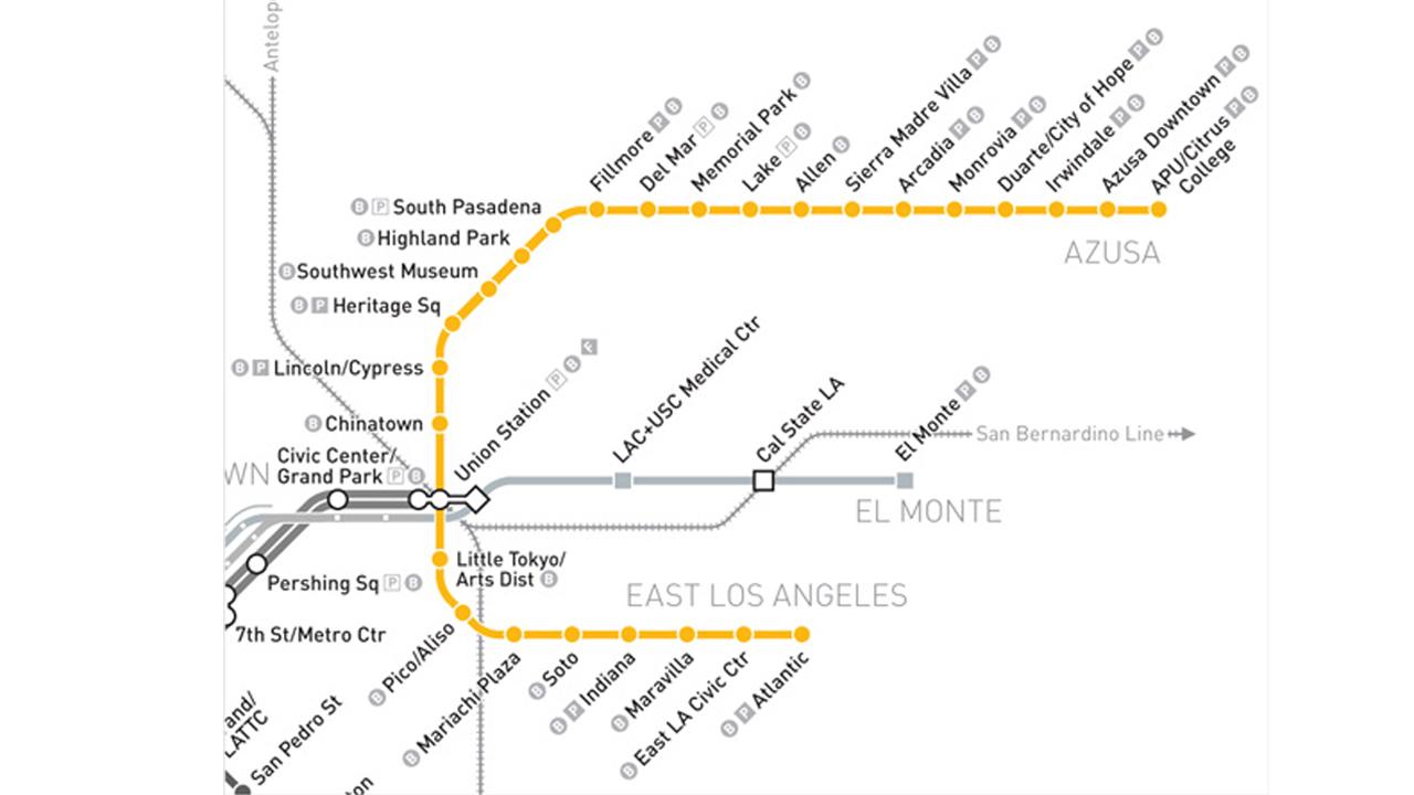 Metro Gold Line Map Metro Map - Los angeles metro expansion map