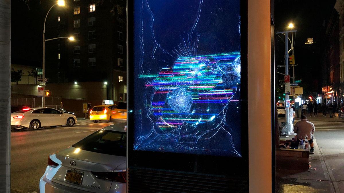 Multiple LinkNYC Kiosks in Manhattan Shattered, Vandalized
