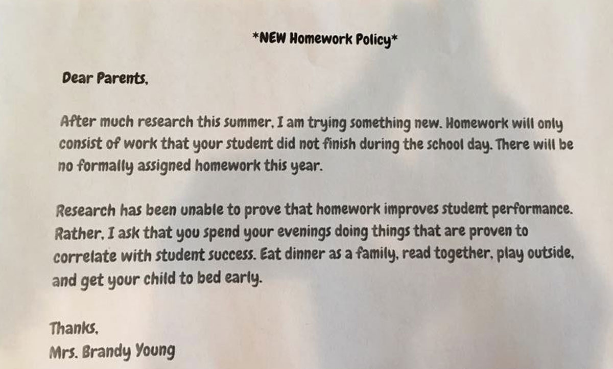 texas teacher eliminates homework for nd graders nbc chicago click to enlarge image photo credit nbc 5 news