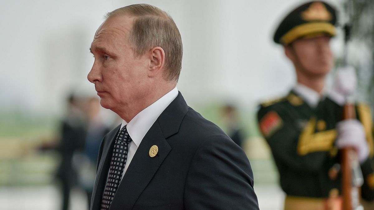In this file photo, President Vladimir Putin of Russia arrives at the Hangzhou Exhibition Center to participate in G20 Summit, on September 4, 2016 in Hangzhou, China.