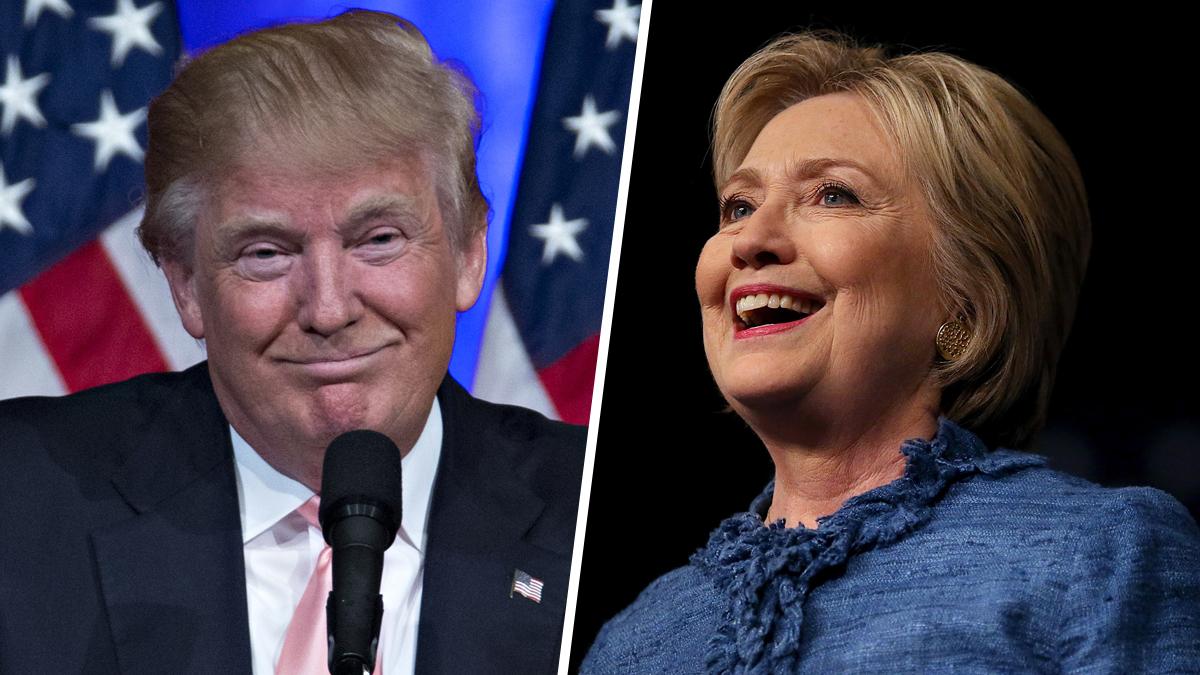 File photos of Donald Trump and Hillary Clinton.