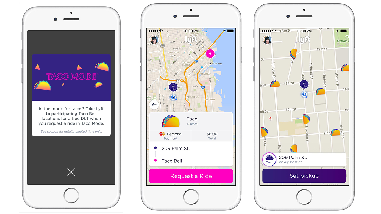 Taco Bell app tests Lyft rider pit-stops