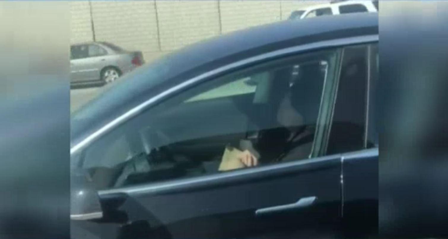 Driver in Self-Driving Car Caught Sleeping Behind Wheel