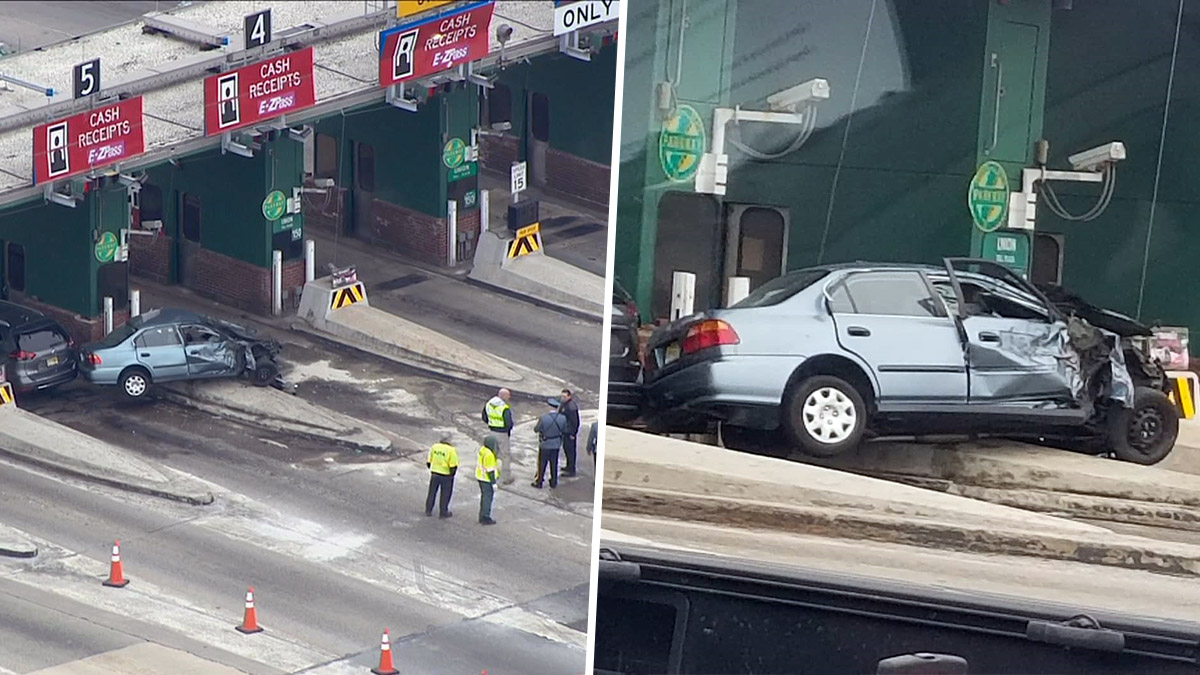 One Person Has Died In A Crash At A Toll Booth On The Garden State Parkway,  State Police Say.Photo Credit: NBC 4 New York / E_glazierThis Story Uses ...