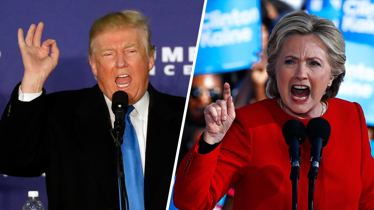 Presidential nominees Donald Trump and Hillary Clinton campaign aggressively in the final hours before election day.