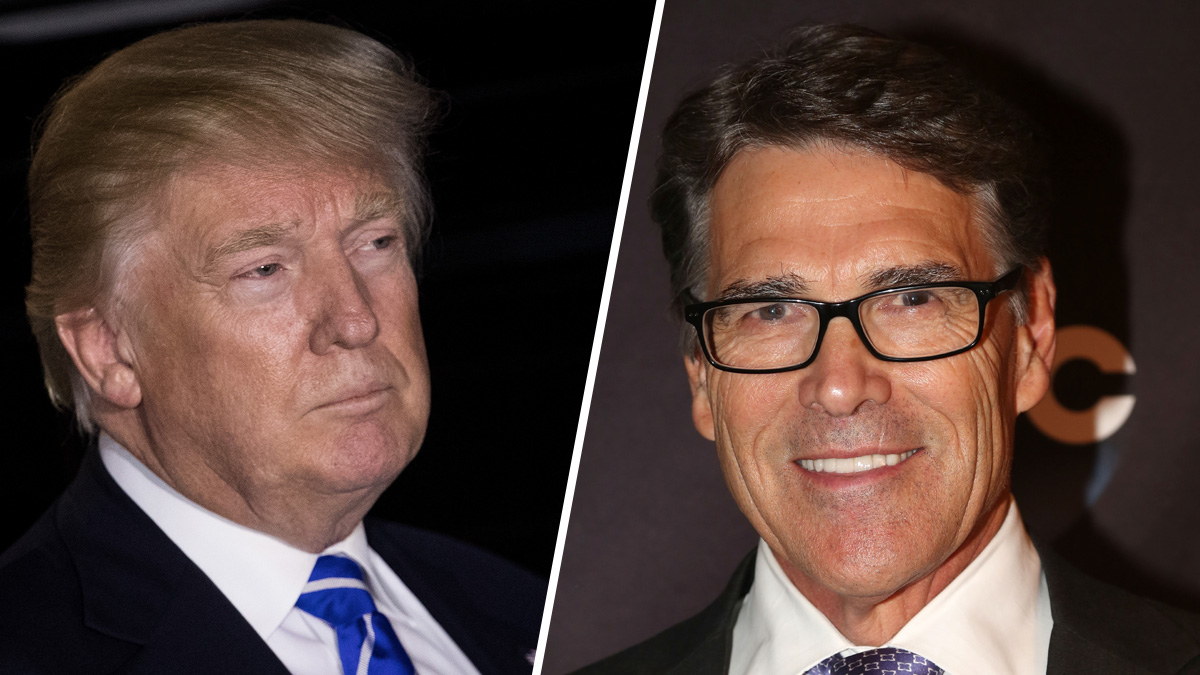 President-elect Donald Trump (L), and former Texas Gov. Rick Perry.