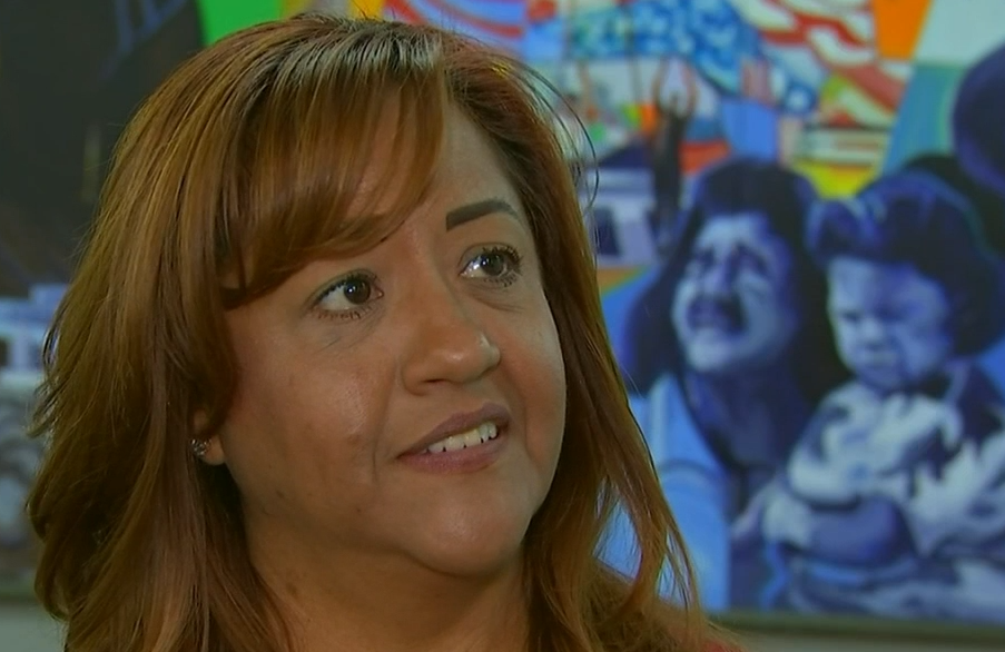 Maru Galvan is undocumented and lives in Los Angeles County. She is fearful of being deported after Donald Trump was elected president.